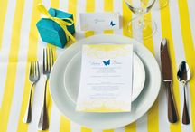 Wedding Inspiration {Yellow + Teal + Gray) / Pretty inspiration for yellow, teal, and gray weddings.