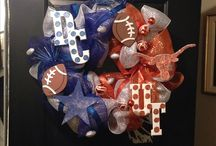Longhorn/Dallas Cowboys Mesh Wreath!!! / Football Mesh Wreath