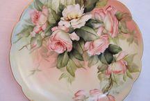 Decoupage tányér,pohár,üveg