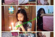 "ultahku ke-19 :"") / happy 19 years old faaaan"