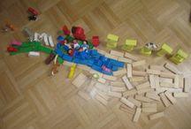 Bausteine - neu entdeckt / Bausteine wieder interessant machen, Bausteine zum kreativen Spiel benutzen, Kleinkindaktivitäten mit Bausteinen