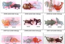 Animal T-lights and candle holders / Our animal T-light range - Dog T-light, Fish T-light,Cat-light,donkey t-light ,lanterns and many more antique finishes items from Super Fine Handicrafts  http://www.sfhindia.com/story/animalstory/index.html