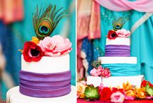 Cakes - bright & colourful / by English Wedding Blog