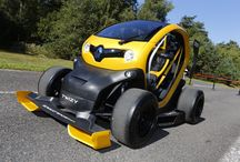 Twizy Renault Sport F1 concept car / Twizy Renault Sport F1 is much more than eye catching concept car, however. In addition to its spectacular look, it delivers genuine high performance thanks to its Kinetic Energy Recovery System (KERS) which is identical to the solution used by Renault-powered F1 race cars.  / by Renault Official