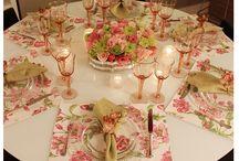 Arrumação de mesas
