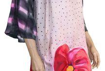 Otoño iSedas / Vestidos de seda pintados a mano. Silk dress handmade