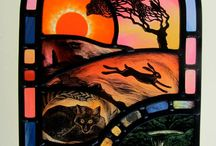 Tamsin Abbott / Stained glass panels by Tamsin Abbot (UK)