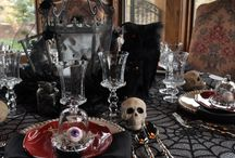 Morticia & Lilly set a table / If Lilly Munster and Morticia Adams were to have a dinner party