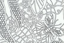раскраски - бабочки