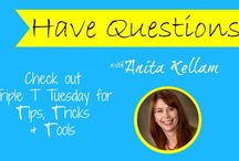 Tuesday's Tips, Tricks and Tools  Anita Kellam / Welcome to my Tuesday's Tips, Tricks and Tools. I plan on posting my favorite things in short videos. Be patient.....there's a bit of a learning curve here with audio, but it will get better.....Tune in and post question ideas below. I am excited to tackle some of your topics. .Join my community for support http://www.facebook.com/homefitnessjunkyhackers / by Anita Kellam