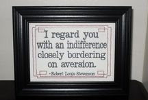 Subversive Cross Stitch / Snarkiness at it's best.  In needlepoint!
