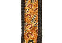 Aboriginal design Dog Collars / Aboriginal design Dog Collars