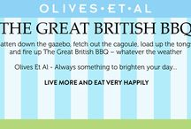 Great British BBQ Month / June is Great British Barebecue month here at Olives Et Al. Batten down the gazebo, fetch out the cagoule, load up the tongs and fire up The Great British BBQ – whatever the weather.