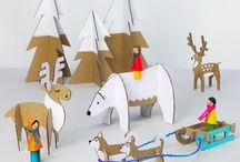 animaux en carton