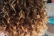 Bouncy curly HAIR