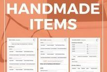 Pricing Handmade Goods / Are you wondering about pricing handmade goods? Do you have an Etsy shop? Learn how to price your work and make money online.