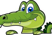 obrázky žáby šneci krokodýli draci