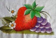 sólo frutas para pintar