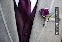 Wedding Colours / Outfits and Colour Schemes from blue to red to purple, light to dark