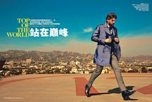 """Daily Throwback: RJ Rogenski for GQ China May 2014 / Images found in DESIGNS FEVER's article """"Daily Throwback: RJ Rogenski for GQ China May 2014"""" The images are captured in Los Angeles, featuring model RJ Rogenski, photographer Arnaldo Anaya-Lucca and Grant Pearce who assembles a smart wardrobe that reinvents the figure of the stylish businessman."""