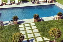 Pool backyard / Trädgård