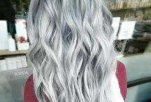 SHADES OF GREY / Hair with minimalist grey and silver shades.