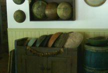 shelves over cupboards