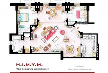 TV Show Floor Plans / Includes The Floor Plans From Your Favorite TV Show Homes!