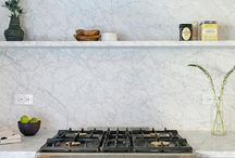 Kitchen / Marble, wood, copper, leather, concrete