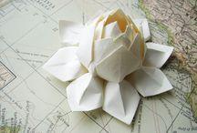 origami çiçekler / kağıt katlama sanatı