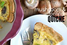Food : Vegetarian quiches, tortillas, pies & tarts