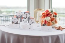 Coral Nautical Wedding / Coral, Peach, dusty grey for a nautical wedding