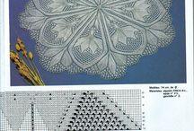 модели салфеток на шали