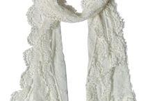 Lace crochet scarf