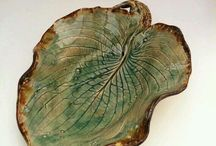 glina liście i rośliny