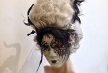 Carnevale - Mardi Gras / Some of our artisanal wigs for clients who are heading to Venice for Mardi Gras festivities. -- Alcune delle nostre parrucche destinate a clienti che stanotte festeggiano il Carnevale a Venezia.