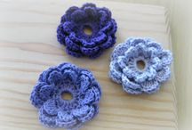 Crochet Flowers / Flowers to add to hats, conn purses, etc / by Debbie McLeod