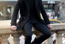 Black fashion man / Idee look dark
