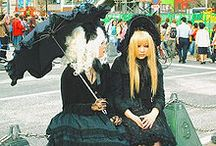 """Lolita / A fashion subculture originally from Japan and now worldwide. The original silhouette is a knee length skirt or dress with a """"cupcake"""" shape assisted by petticoats"""