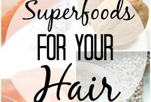 Hair food / Food that helps hair growth and keeps the hair and body healthy
