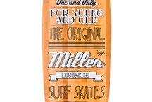 Pin Up · Miller Division · Longboard / Bambú cebra, fibra de vidrio, flex, sand grip... y las ruedas Seismic Hot Spot de serie. La joya de carving de Miller Division.  http://millerdivision.com/productos/74-pin-up