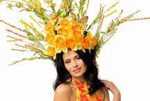 extreme floral headpieces