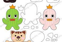 goma Eva dibujos y animales
