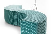 Lande Dots / No day is the same with Dots. Just change them around, put them together and combine.  The shape ensures sitting comfort. From stools to letters and from donuts to curves – just play with the elements and enjoy the results. Create group encounters or places to be alone together. Move together and create energy.  Dots' smooth upholstery and rounded corners simply invites you to sit down. Wherever you are and whatever you're doing. Just try it out – sitting, lounging, lying down.