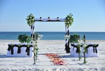 A Black and White Beach Wedding / Big Day Weddings, Black and white beach wedding theme, Orange Beach Alabama, Gulf Shores Alabama, and Gulf Coast Weddings.