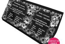 Sloper Headstones / Sloper Headstones design by Forever Shining Australia.