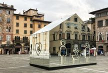 """Welcome Difference / """"Welcome Difference"""", exhibith lighting design Christmas 2017 - Piazza San Michele, Lucca, Tuscany, Italy Concept: Domenico Raimondi - thesignlab Exhibit: Allestend, S.I.L.V., ArtTech, Huevo Print"""
