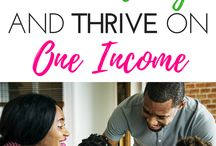 Living On One Income / How to live on one income  how to thrive on one income  ways to save money when living on one income  benefits of living on one income  frugal  frugal lifestyle  how to budget on a low income  how to be thrifty  how to make paycheck stretch  pay down debt  frugal living