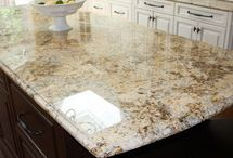 Granite countertops / by Brittany Kinley