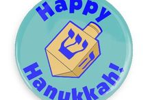 Hanukkah Buttons / Funny Buttons - Custom Buttons - Promotional Badges - Hanukkah Pins - Wacky Buttons
